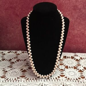 Vintage Braided Pearl Necklace